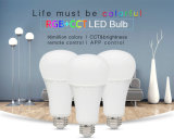 Smartphone APP Control and Remote Controlled 12W RGB+CCT LED Light Bulb