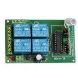 4 Channel Wireless Remote Control Switch for Alarm (ES-K400)