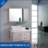 Waterproof Steel Bathroom Washbasin Cabinet with Side Cabinet