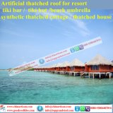 Synthetic Thatch Artificial Palm Leaves Thatched Roof Cottage Cook Island