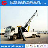 HOWO 8*4 Heavy Duty 30ton 40ton Winch Rotating Crane Wrecker Truck