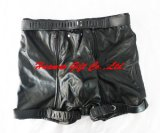 Lingerie Leather Locking Shorts (PT-1018)