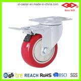 Red PU Medium Duty Caster (P120-35E075X30S)
