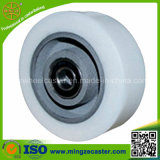 Elastic Polyurethane Mold on Cast Iron Center Wheel for Casters