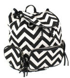 Fashion Stripe Printing Canvas Backpack for School, Travel