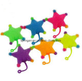 Kids Plastic Toy with Flash Fuzzy Ball Five-Pointed Star