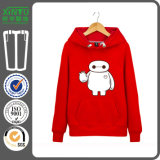 2016 Red Color Cheap Fleece Pullover Couple Hoodie Jacket