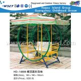 Colorful Outdoor Swing Set with Shed on Promotion (HD-14806)