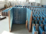 7mm Riffled Copper Tube Louvered Fin Refrigeration Unit Heat Exchanger