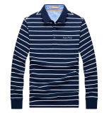 Custom Fashion Men Long Sleeve Striped Polo Shirts