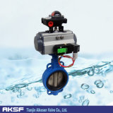 Pneumatic Actuator Control Butterfly Valve with Worm Gear (D671X)