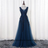 V-Neck Cap Sleeve Vintage Lace Appliques Beaded Prom Dresses