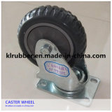 High Quality Industrial Rubber Swivel Plate Caster Wheel