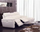 Chaise Italia Leather Sofa (854)
