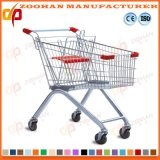Competetive European Style Zinc Mall Hand Cart Shopping Trolley (Zht108)