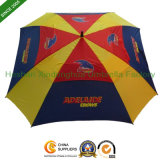 Square Double Canopy Golf Umbrella with Customized Logos (GOL-S0027FA)