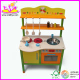 2015 Cartoon Cooking Play Set Toys, Kid Pretend Play Cook Wooden Kitchen Toy, High Quality Wooden Kitchen Toy Cooking Set Wj278617