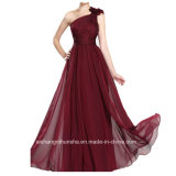 Women Chiffon One Shoulder Sheath Dress Evening Dress Prom Dress