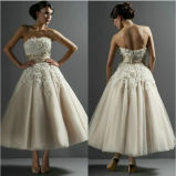 Lace Wedding Dress Champagne Tulle Vestidos Bridal Evening Dress Ld11529