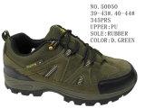 No. 50050 Men′s Hiking Stock Shoes D. Green Color