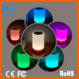 2017 Newest Portable Colorful LED Light Mini Wireless Waterproof Bluetooth Speaker for Music Player