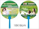 Promotion PP Hand Held Fan Custom Shape PP Fan with Your Logo Print