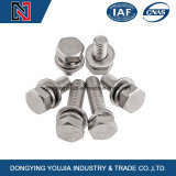 China Manufacture Stainless Steel Hexagon Head Bolts and Spring Washer Assemblies GB9074
