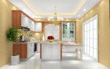 European Style Popular Flat PVC Finish PVC Kitchen Cabinet (zc-028)