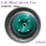 13 Inch 3.50-7 Inflatable Tire Wheel Barrow Tire