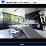 White Beautiful Artificial Stone Conference Tables, Commercial Office Desk (TW-MATB-123)