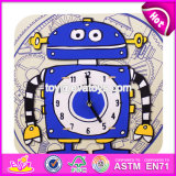 New Design Custom Toddlers Wooden Funny Alarm Clocks W14k007
