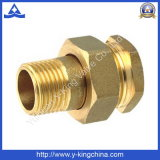 Male Brass Compression Full Coupling (YD-6015)