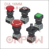 Single Light Push Button Switch (Onpow LAS1-B, 16mm)