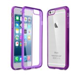 Soft Bumper Case with Hard Clear Back Panel Cover for Apple iPhone 6s 4.7 Inch
