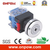 Onpow 30mm B Type Key Switch (LAS0-K30-11YB/21, CE, CCC, RoHS)