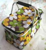 Two Handle of Folding Shopping Basket for Supermarket Furniture