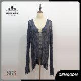 Women Special Design Water-Drop Neckline Sweater