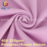 Polyester Rayon Weft Knitted Roman Fabric for Pants Dress (GLLML379)
