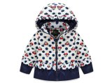 C1283 Winter Baby Kids Girls White Duck Down Coat Short Hooded Micky Thick Coat Outwear Children Baby Cotton Padded Jacket