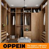 Modern U-Shaped Wood Grain Walk-in Closet Wooden Bedroom Wardrobe (YG16-M09)