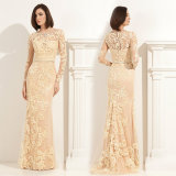Lace Mother′s Gowns Sheath Sash Evening Prom Party Dresses Z1010