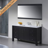 Double Ceramic Sink Bathroom Vanity