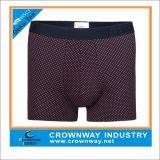 Men′s Knit Basic Boxer Short with DOT Partern