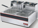 12L Stainless Steel Double Cylinder Double Screen Electric Fryer