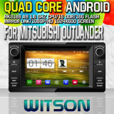 Witson S160 Car DVD GPS Player for Mitsubishi Outlander with Rk3188 Quad Core HD 1024X600 Screen 16GB Flash 1080P WiFi 3G Front DVR DVB-T Mirror-Link (W2-M230)