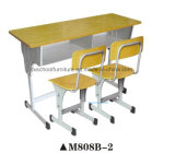 New Style Classroom Furniture Wooden Double Desk and Chair