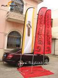 Exhibition Aluminium Customized Beach Flag/Feather Flag