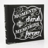 "Slik Screen Printing Black Cloth Photo Album Hold 200 PCS 4X6 "" Photos"