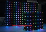 2m * 2m P18 30 Programs LED Backdrop Curtain with Vision Effects for Festival/ Wedding, Fireproof LED Video Cloth