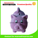 Fancy Handpaint Piggy Bank Animal Ornament Made of Ceramic